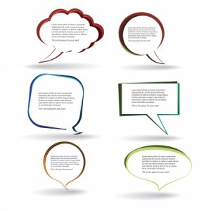 big conversation speech bubbles